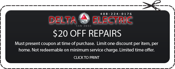 San Jose Electrical Repair Coupon